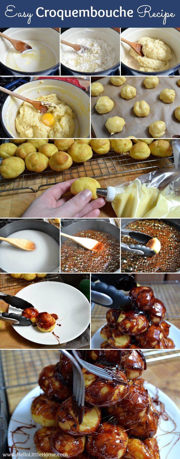 Easy Croquembouche Recipe + French Themed Recipe Ideas | Hello Little Home