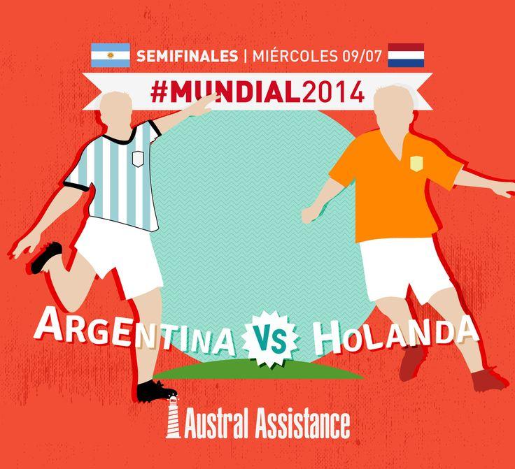 Semifinales #Mundial2014 #Argentina #Holanda ---> Austral Assistance - Asistencia al viajero, aquí y en todo el mundo. www.australassistance.com
