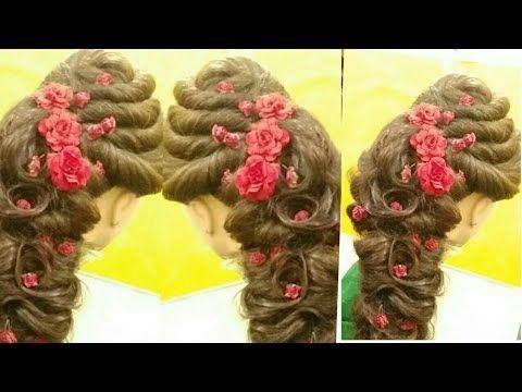 Bridal Hairstyle With Matha Patti Latest Front Hairstyles Front Puff Hairstyle P Hair Puff Hair Hacks Bridal Hair
