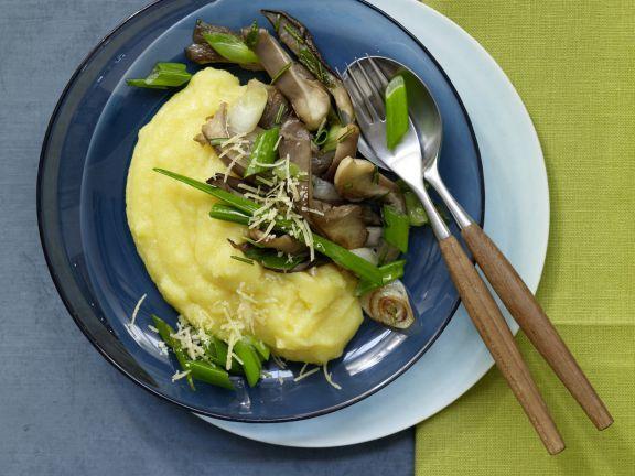 Fried Oyster Mushrooms and Polenta | Eat Smarter