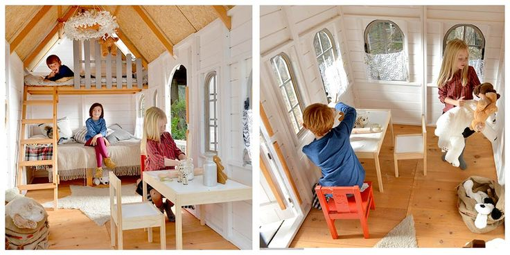 37 best interiores de las casitas de madera playhouse - Literas para ninos ...