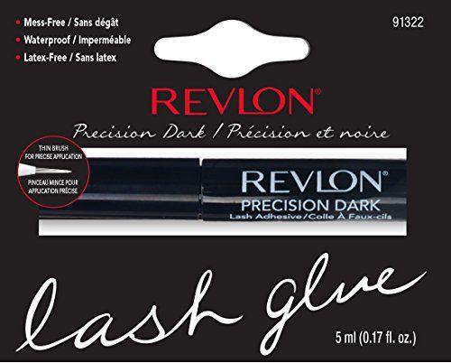 Revlon Colle Faux-Cils Noir: Colle noire pour faux-cils, pinceau ultra fin pour une application précise. Application facile et rapide.…
