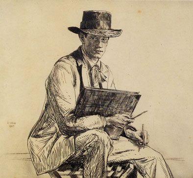 Francis Dodd, Portrait Of Henry Rushbury, 1889-1968