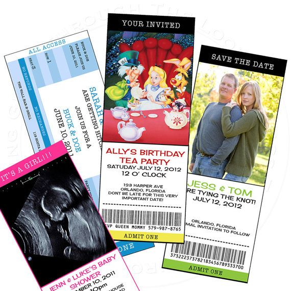 You can Print Custom Ticket birthday sports jack and jill save the date bachelor party invitation etc DIGITAL can order as well on Etsy, $10.99