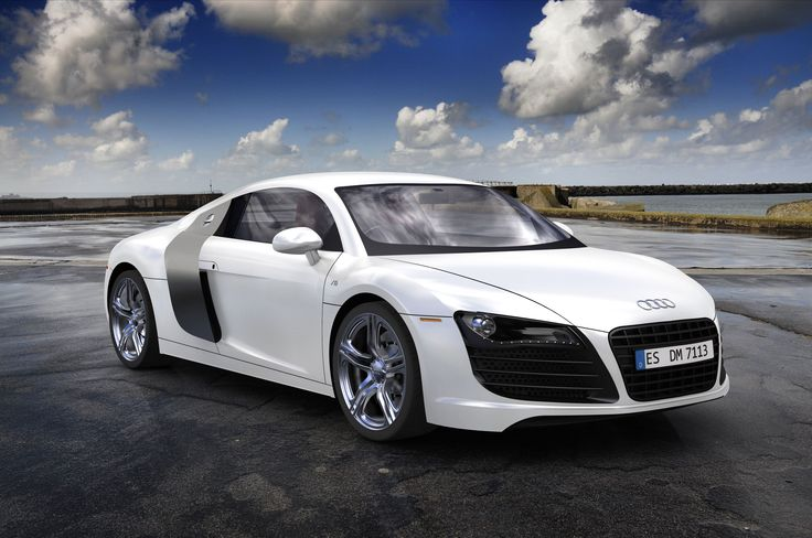 Audi R8 | Audi R8 White Desktop Image