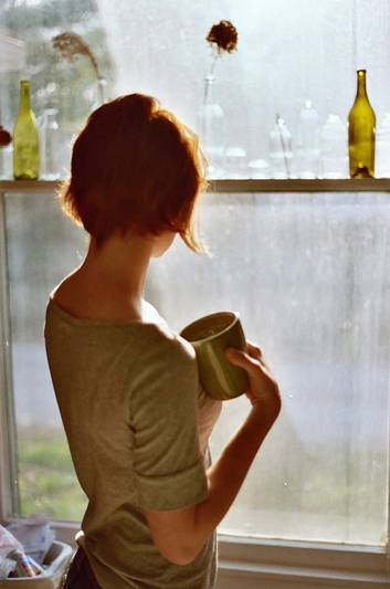 Thinking random thoughts while staring out the window with a cup of tea.  Trevor Triano