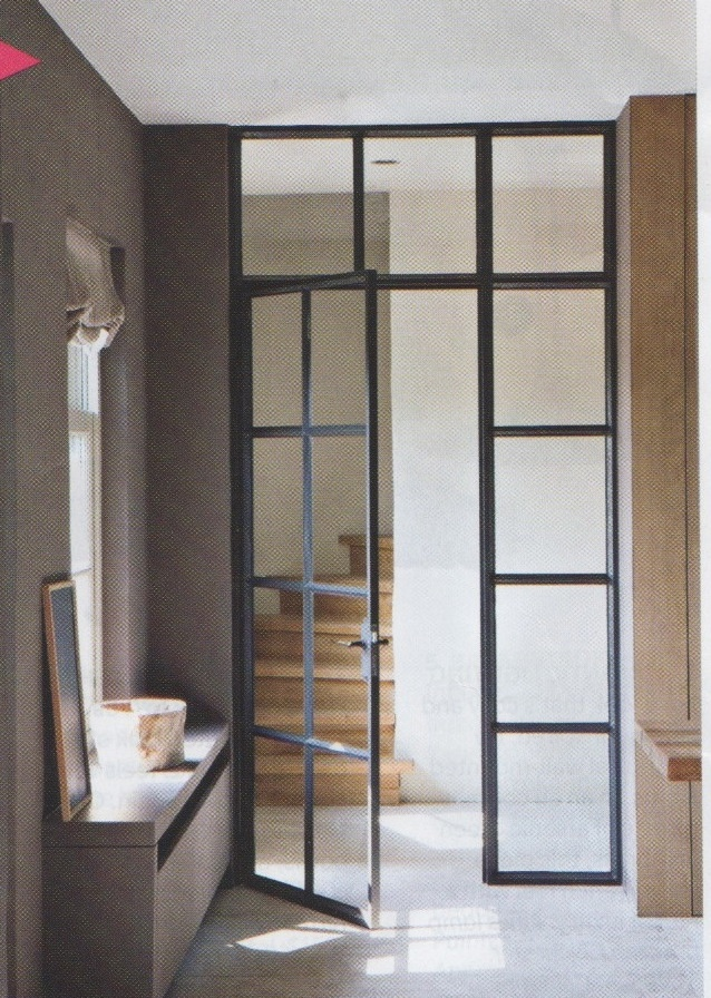 black framed interior doors - canadian house and home magazine