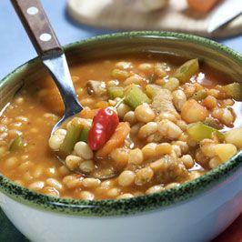 Fazuľová polievka smotanová