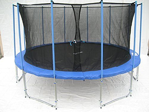 ExacMe 12ft Trampoline w/ Enclosure Net and Ladder All-in-one Combo Set C12
