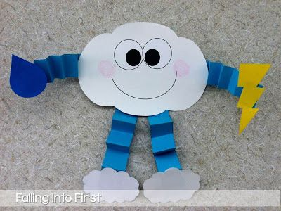 Cute Cloud craft for Weather Unit!! This teacher has an entire unit planned that you can pay for, but a lot of great ideas!