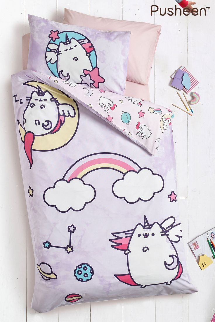 Pusheen Bed Set Purple Pusheen, Bedding sets uk