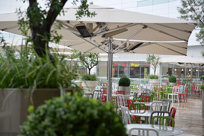 Infrared heaters Heatscope Spot are a great solution for heating outdoor dining areas or beergardens.