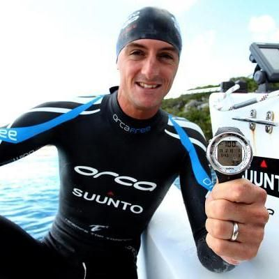 The only man in the world who ever dived to a depth of 100 meters without any assistance