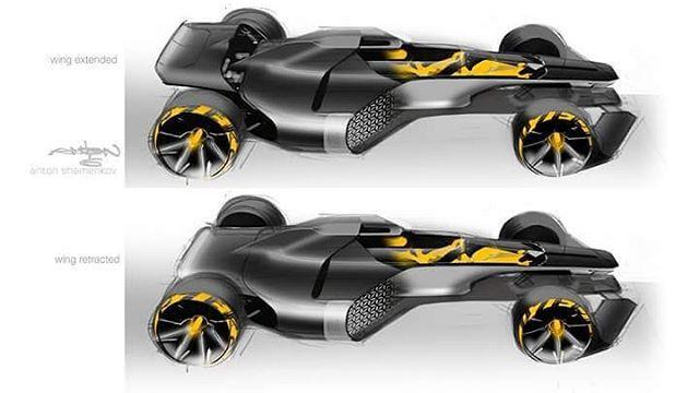 Renault R. S. 2027 Vision Concept official sketches by Anton Shamenkov  #cardesign #renault #formula1 #formulaone #2027 #rs #vision #racing #racecar #automotivedesign #transportdesign #vehicledesign #future #sketch #carsketch #designsketch #car #instacar #cardrawing