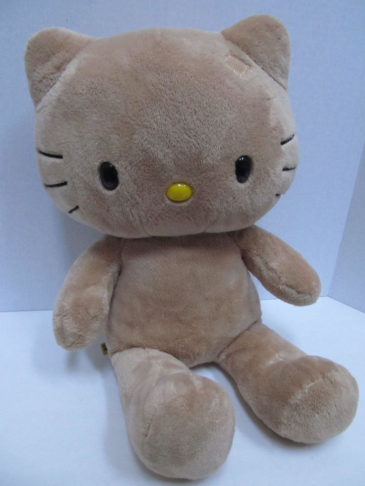 Build A Bear Sunkissed Hello Kitty Plush Cat Toy Tropical Light Brown No Flower
