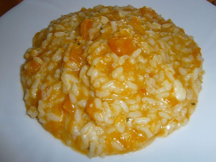 Risotto zucca e provola - Risotto with pumpkin and provola cheese http://arrangerchef.com/?page_id=732