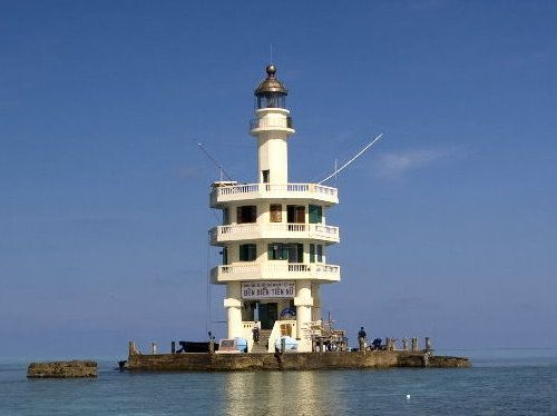 Lighthouse of the Spratly Islands. The Tien Nu Lighthouse  on Pigeon Island is controlled by Vietnam, it was built in 2000