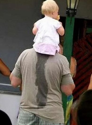 Pretending not to notice, now that's a great dad.