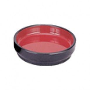 Half Moon Sushi Pate      Availability : In Stock     Dimentions : 205 x 174 x 38mm     Pieces Per Item : 1     Colour : Red & Black     Material : ABS & Melamine     Finish : Laquer     Item Code : SP-18161     Weight : 169g  Price : $8.95