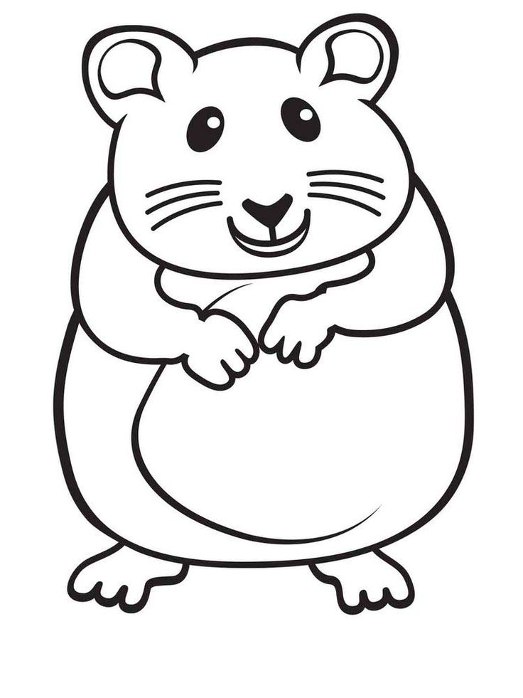 Cute Hamster Coloring Pages Printable. Hamsters, small ...