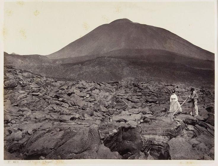 Lava del Vesuvio, Napoli, Giorgio Sommer