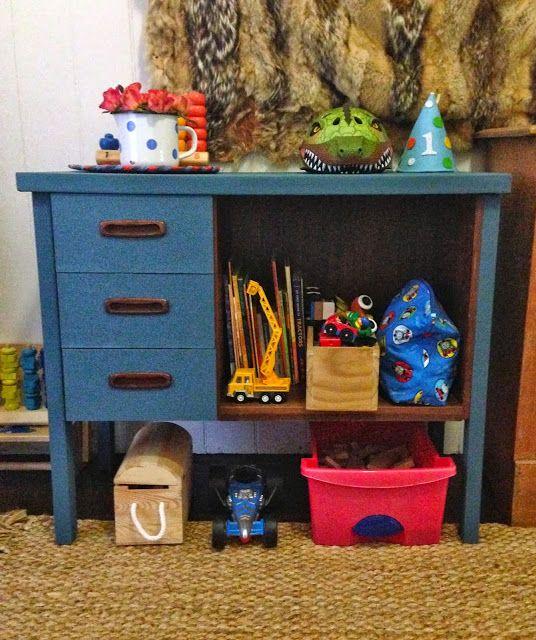 Mother Down Under: Chalk Paint Desk - Toy Storage