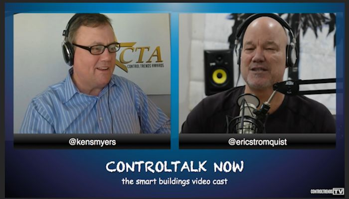ControlTalk NOW — Smart Buildings VideoCast and Podcast features interviews with Dr. Igor Mezic and John Norris of Ecorithm and Ken Sinclair, My comments at 42 minute mark.  and Neptronic's VP of Sales and Marketing, Luis Melgares, along with Andy McMillan's presentation at the Connected Community Collaboration, a product update from Vykon. Of special note was the announcement of Sameer Pradhan as Director of ControlTrends India.