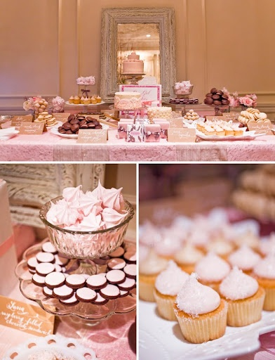 pink dessert table - i like the mirror behind (you are what you eat)