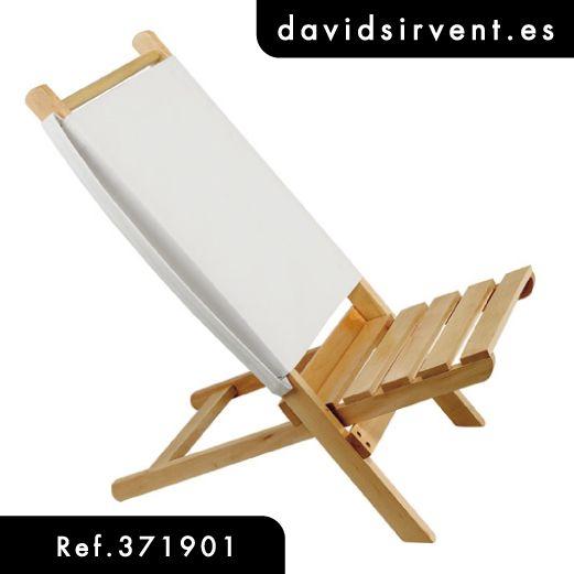 silla de playa fabricada en madera con respaldo de algodn dispone de asa lateral para