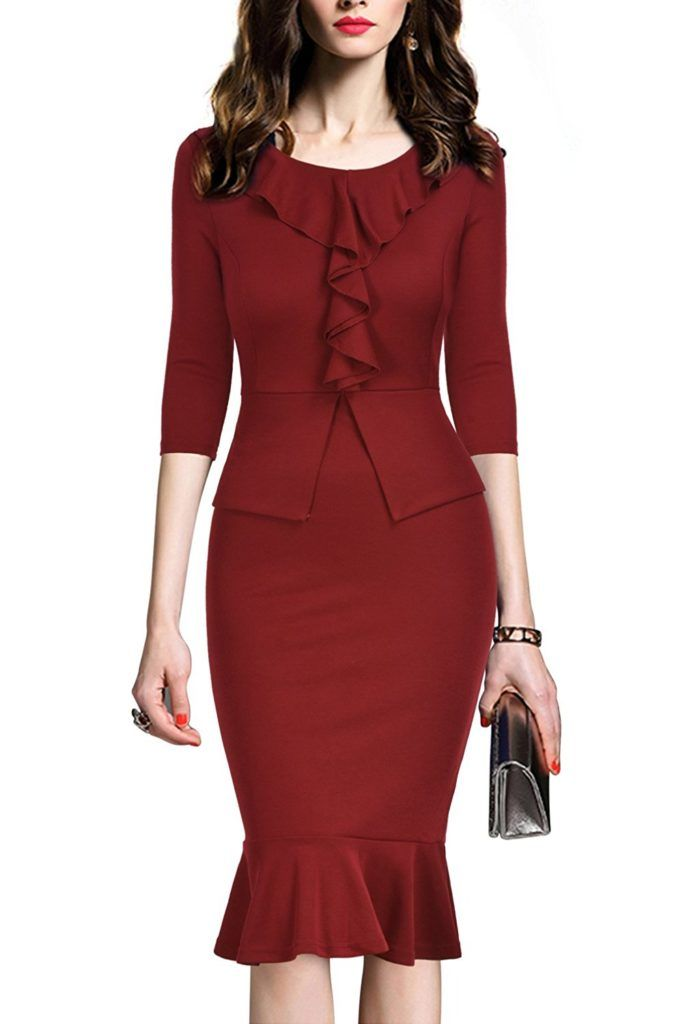 baa5dc52d31e REPHYLLIS Women s Vintage One Piece Office Wear To Work Pencil Dress -  Shop2online best woman s fashion products designed to provide