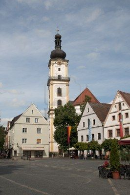 Weiden, Germany town square