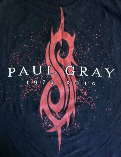 Sold!  Slipknot, Paul Gray Memorial T-Shirt - Adult Size Medium - please click on the photo if you would like to see other great items in my ebay store.