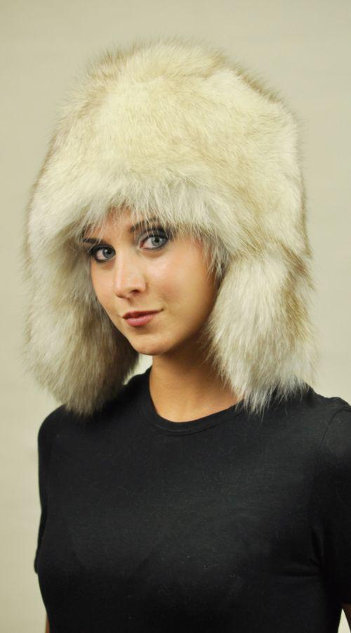Greenland fox fur hat http://www.amifur.com