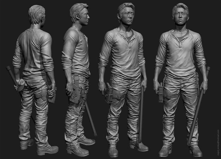 "the Walking Dead ""Glenn"" Zbrush sculpt for McFarlane toys by Majid Esmaeili [ majidsmiley.com ] #Zbrush"