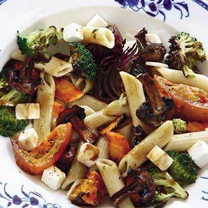Recept - Pasta met geroosterde groenten - Allerhande