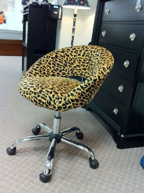 Cheetah print office chair Mobiliario y Sillas de icina