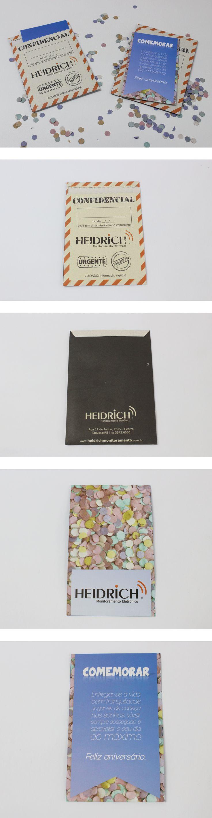 Impressos criados pela Agência Conceito para o cliente Heidrich.