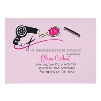 Graduation Announcements and Invitations for Beauty Cosmetology School Grads at GraduationCardsShop.com