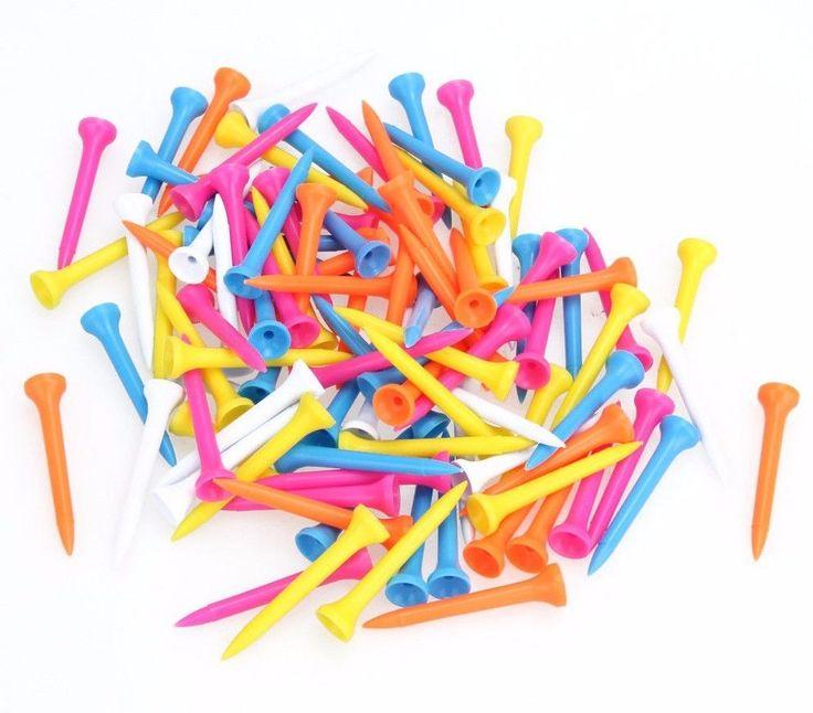 100 x Piesas Tee de Practica Multicolor Para Pelota de Golf Plastico ~ Golf Tees #Unbranded