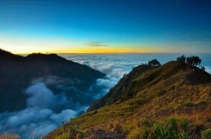 Rinjani, Lombok, Indonesia. Said to be one of the most beautiful mountain in the world.