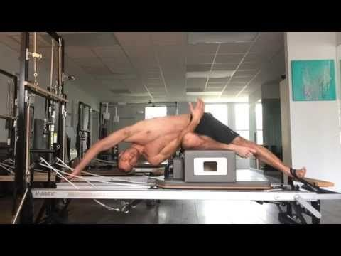 Joseph Pilates hardcore Reformer abs & obliques workout by Matthew (NSFW) Great control and precision. Look at those abs!