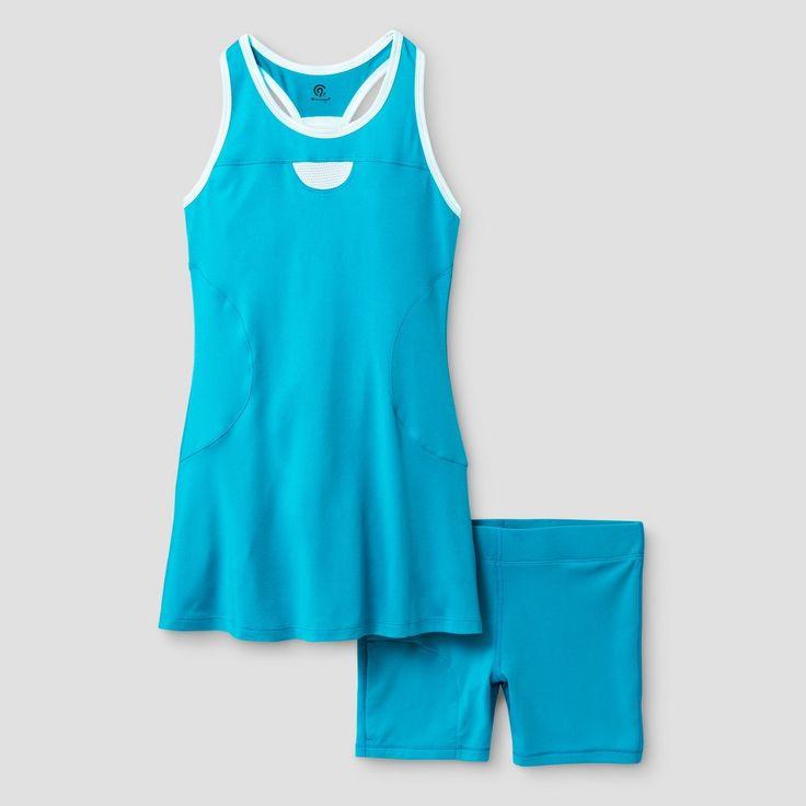 Girls' Tennis Dress Turquoise XL - C9 Champion