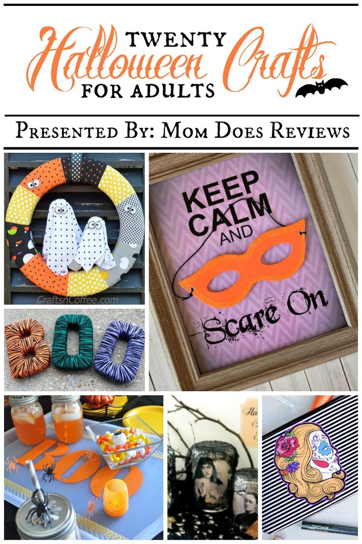 20 Halloween Crafts for Adults Presented By: Mom Does Reviews