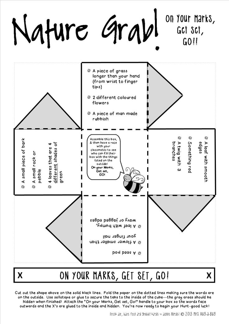 *** FREEBIE! *** Children assemble the Nature Grab Box and then race to collect the things listed on the outside...