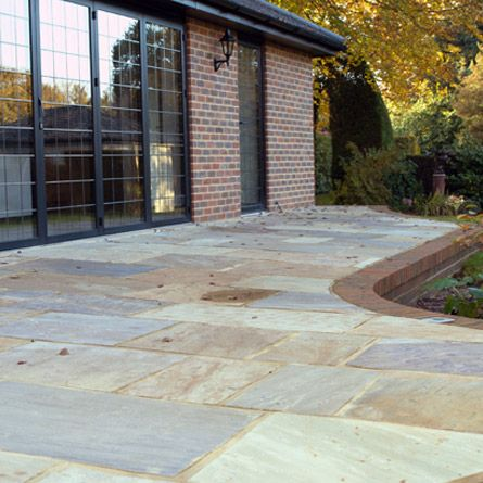 rippon buff sandstone paving patio pack 16 sq m sandstone external paving