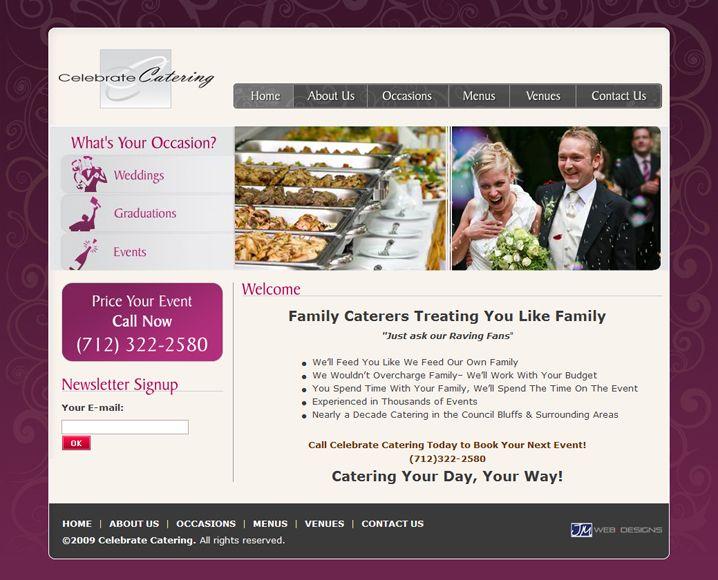 Клиент: Catering Company Описание: Разработка дизайн-решения сайта для компании, занимающейся организацией и обслуживанием празднований.  Работа выполнена по субподряду.