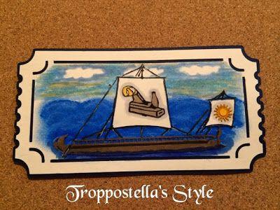"""Troppostella's Style: Biglietto Auguri con """"Triremi"""""""