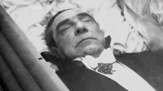 Bela Lugosi was dressed in his black Dracula cape for his funeral on August 18, 1956. Although the press was told this was Lugosi's wish, it was actually that of his fourth wife Lillian and son Bela Jr.