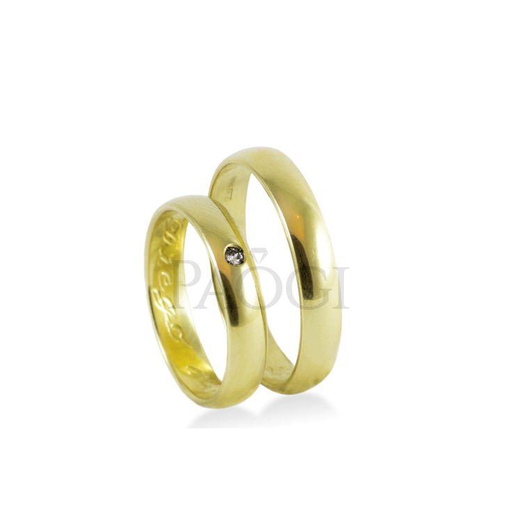 PAOGI -  Alianzas Verona en oro amarillo con Diamante