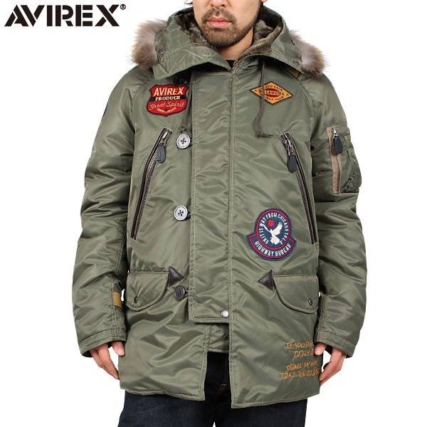 AVIREX アビレックス WAPPEN MODIFIED N-3B フライトジャケット SAGE GREEN